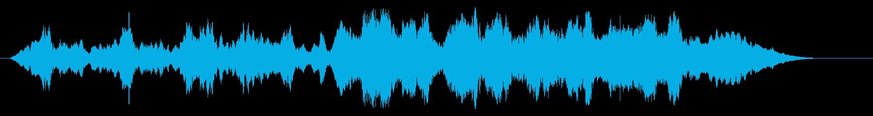 場面の移り変わりに、ストリングス曲です。の再生済みの波形