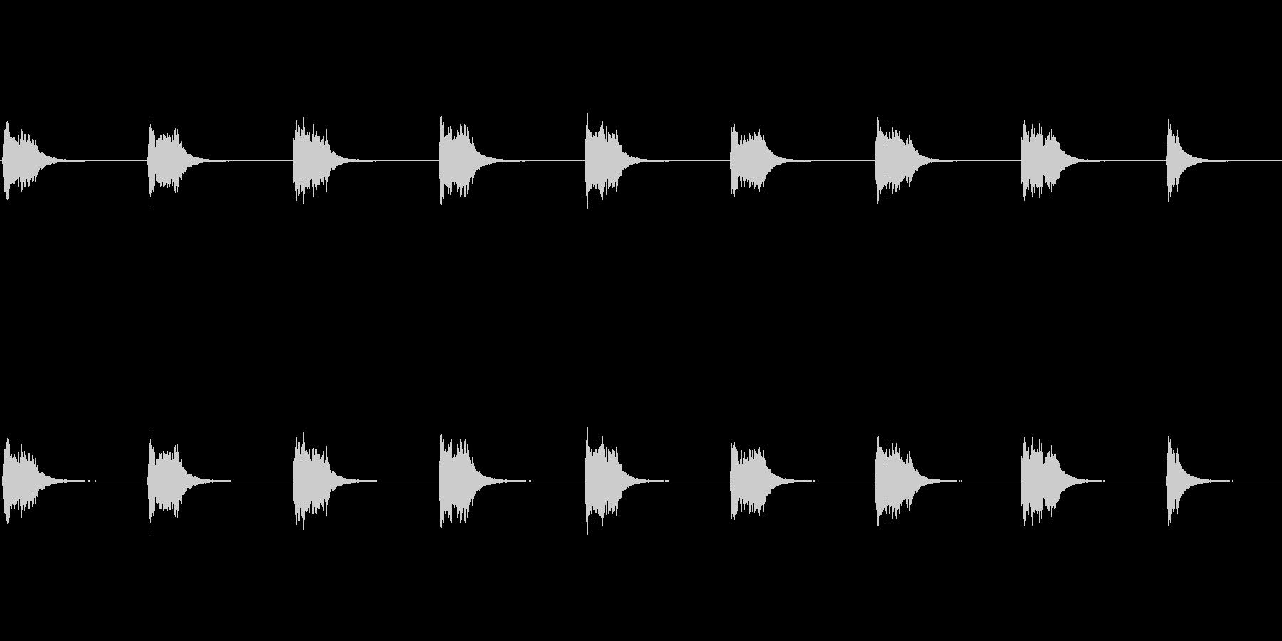1980年代初頭のデスクフォン:ベ...の未再生の波形