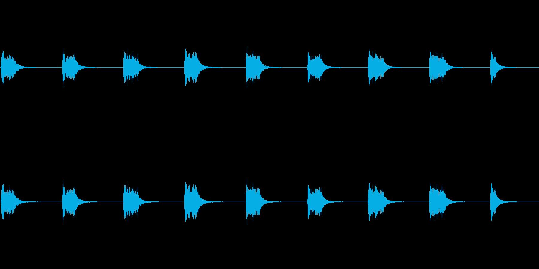 1980年代初頭のデスクフォン:ベ...の再生済みの波形