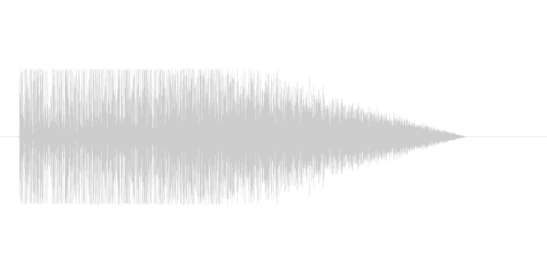 8bitの爆発音 ゴオオオオの未再生の波形