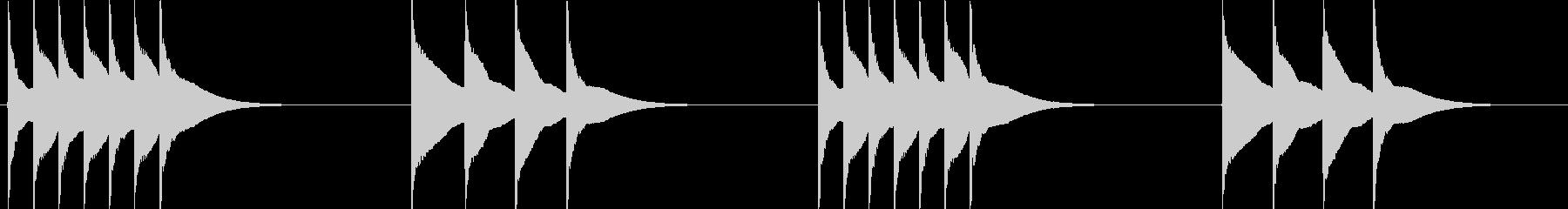 木琴のトリルを使ったシンプルな着信音の未再生の波形
