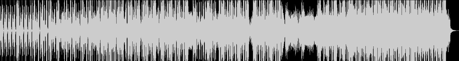 エッジの効いたロボット的なサウンドの未再生の波形