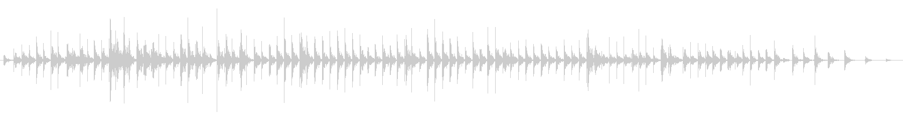 ウッドフロア:素足:実行、左チャネ...の未再生の波形