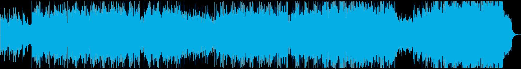 バイオリンの明るく元気なテクノポップの再生済みの波形