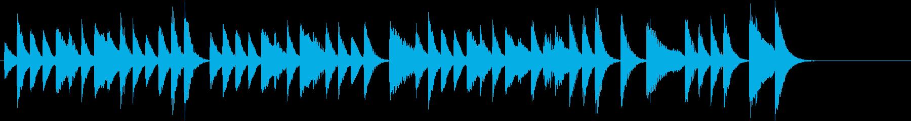 猫動画に♪リズミカルお茶目ピアノジングルの再生済みの波形