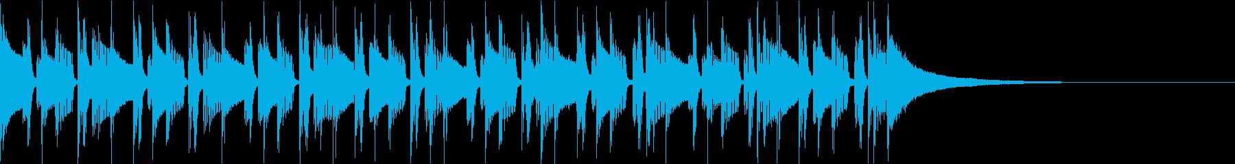 緩めのリズムに印象的なベルの音色の再生済みの波形