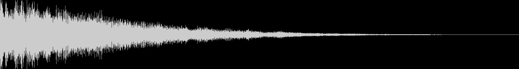 明るく神秘的な効果音の未再生の波形