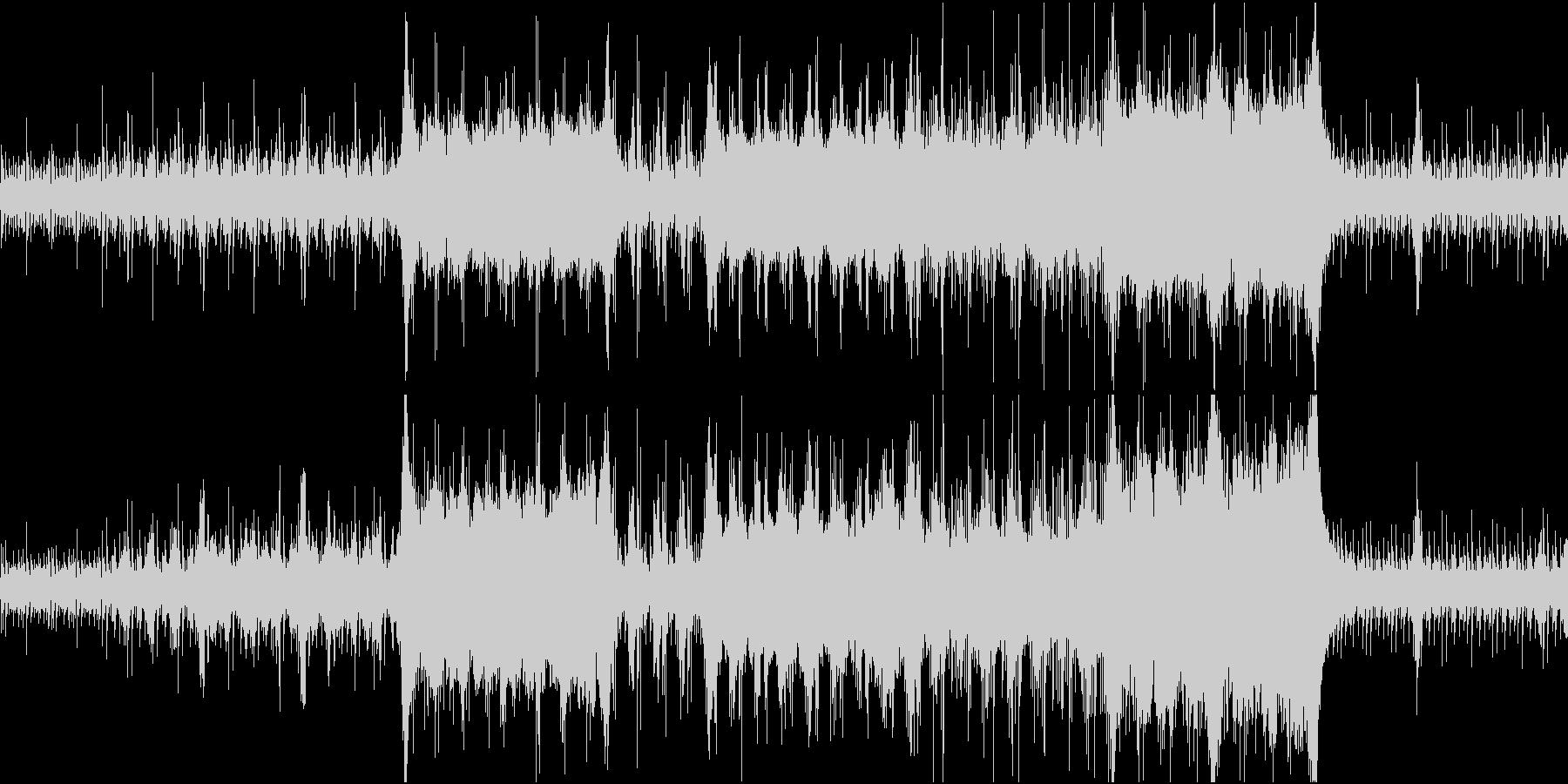 ゲーム的オーケストラ戦 明け方の港の未再生の波形