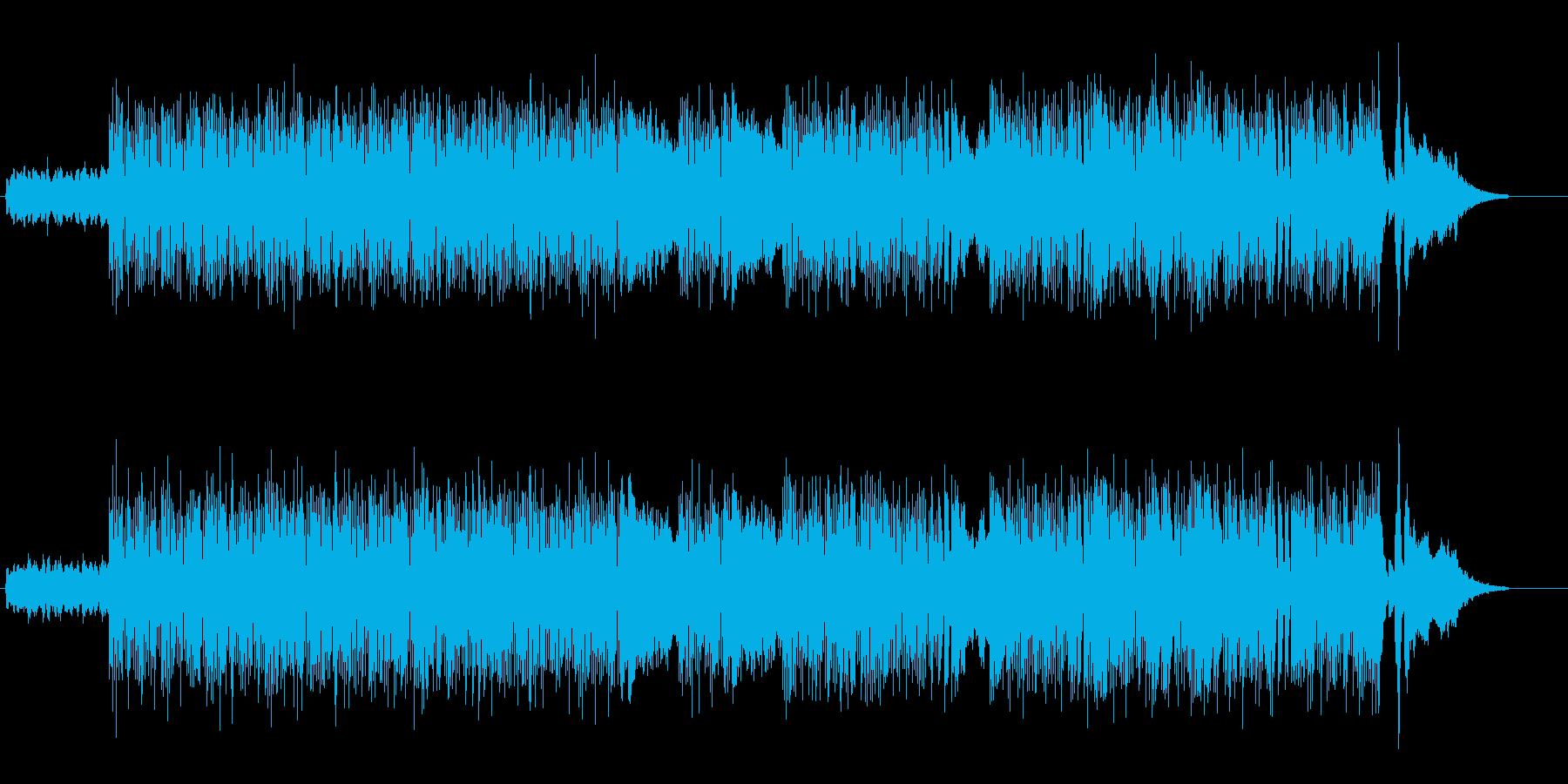 ピアノ&シンセのアップテンポ幻想的曲の再生済みの波形