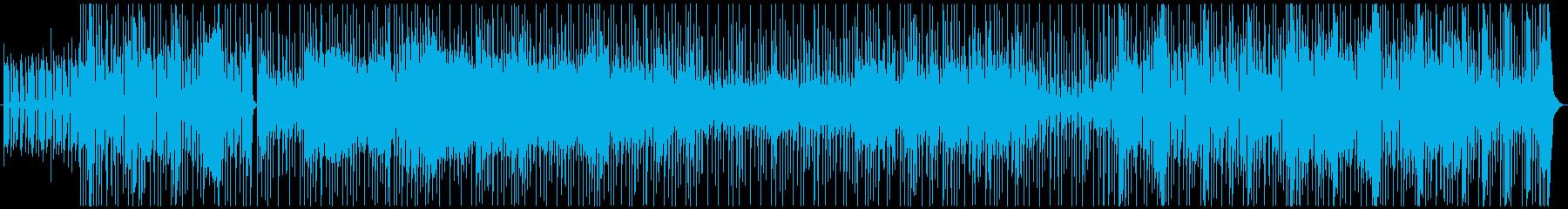 ファンキーBGM ブルースハープを添えての再生済みの波形