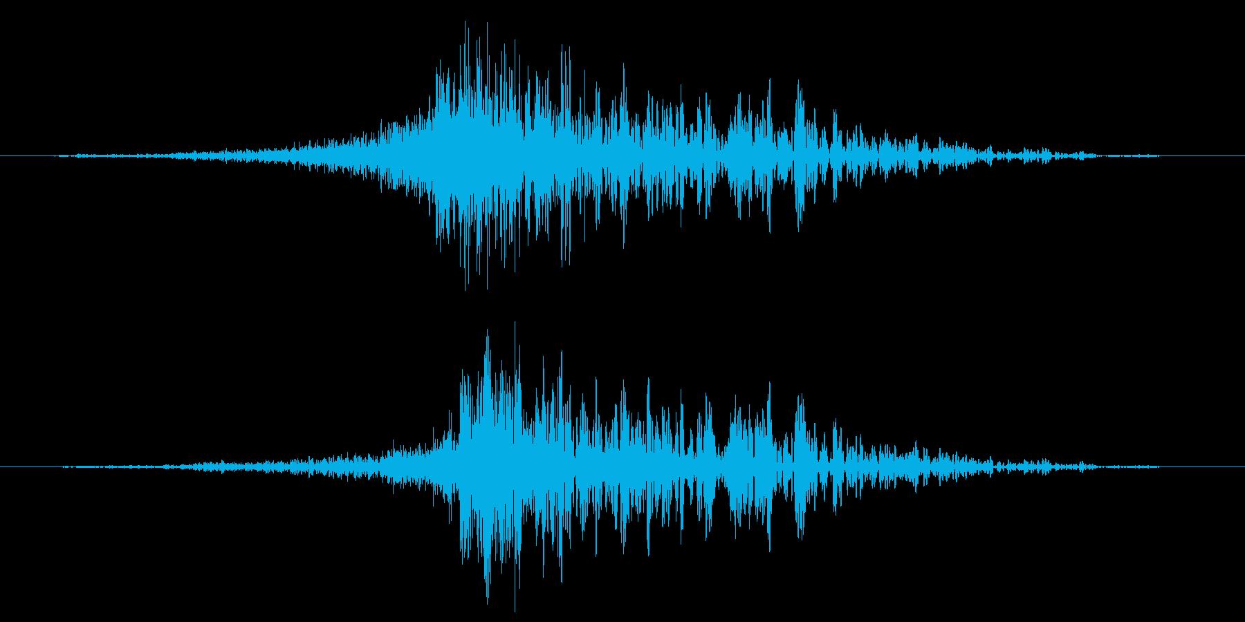 ゴロゴロの再生済みの波形