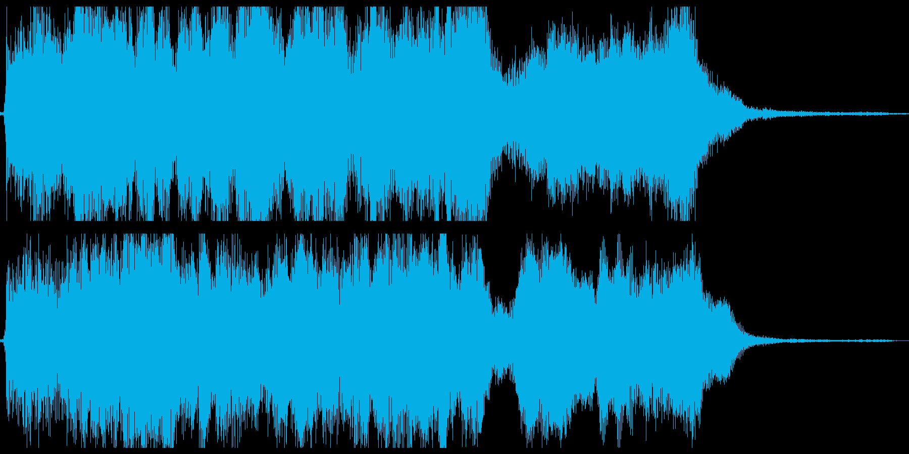 和風オーケストラ:タイトルロゴ,ジングルの再生済みの波形
