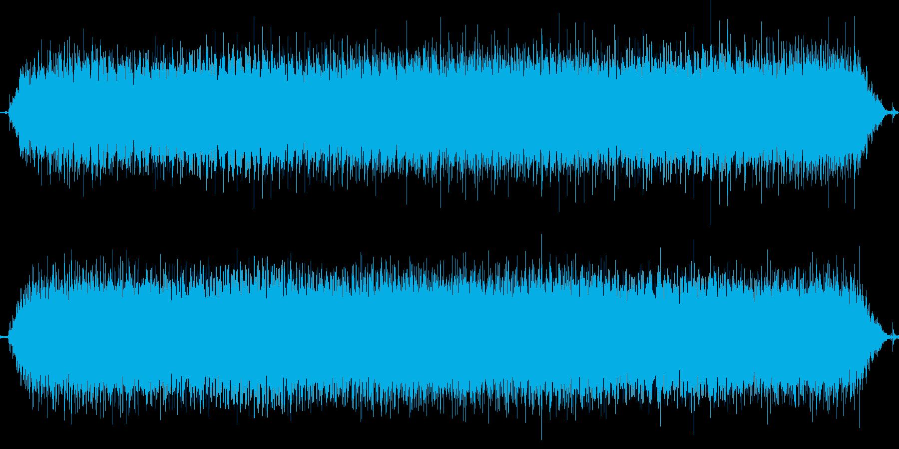 ヒゲそり動作中の再生済みの波形