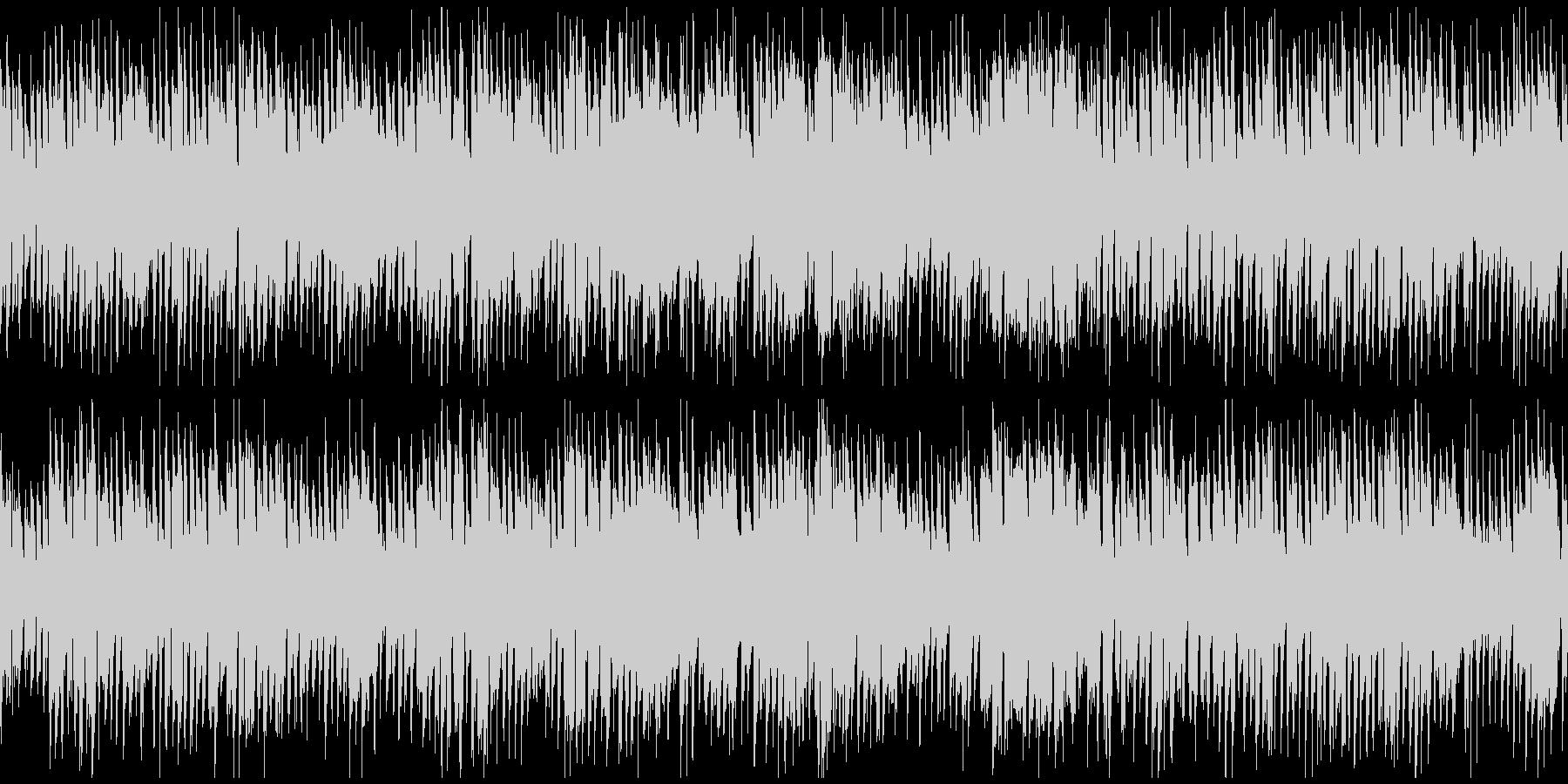 ハッピーなリコーダーのポップス※ループ版の未再生の波形
