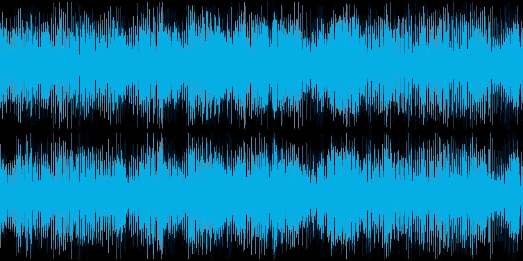 ハッピーなリコーダーのポップス※ループ版の再生済みの波形