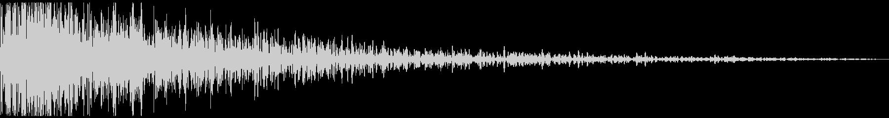 ドーン、ドカーン(爆弾が爆発する音)の未再生の波形