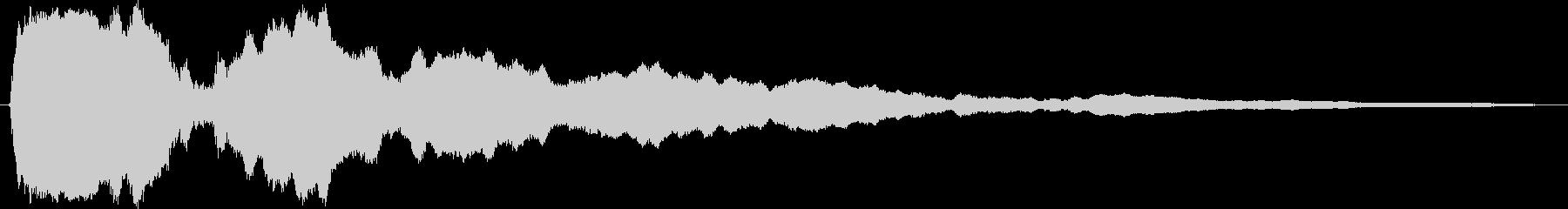 ピアノの単音(演出音)の未再生の波形