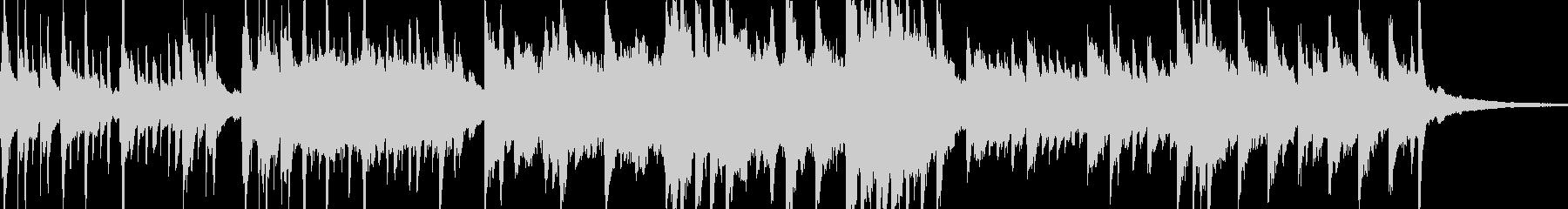 ピアノがメインの曲の未再生の波形