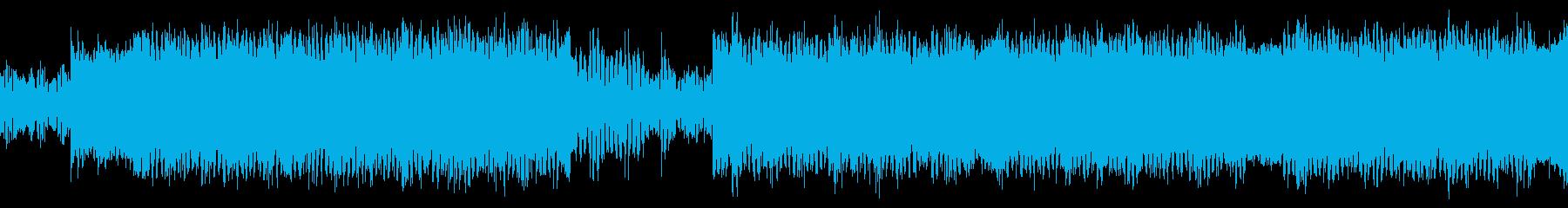 サイケデリック、SFシューティングBGMの再生済みの波形