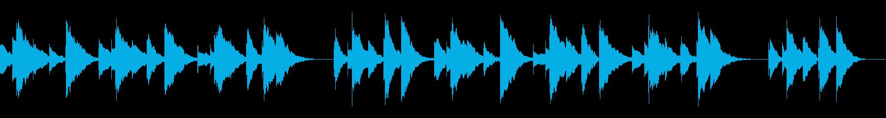 ハッピーバースデーのオルゴールアレンジの再生済みの波形