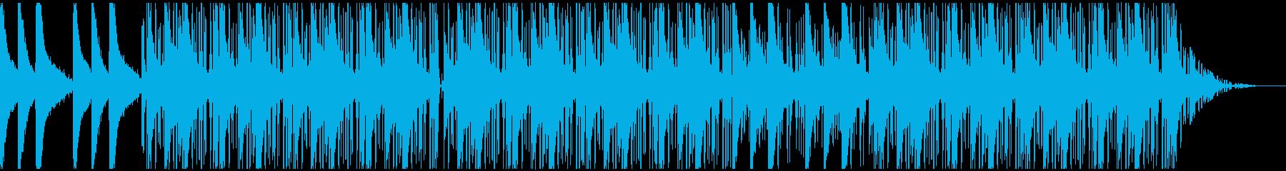 ローファイヒップホップ:飛び道具無しの再生済みの波形
