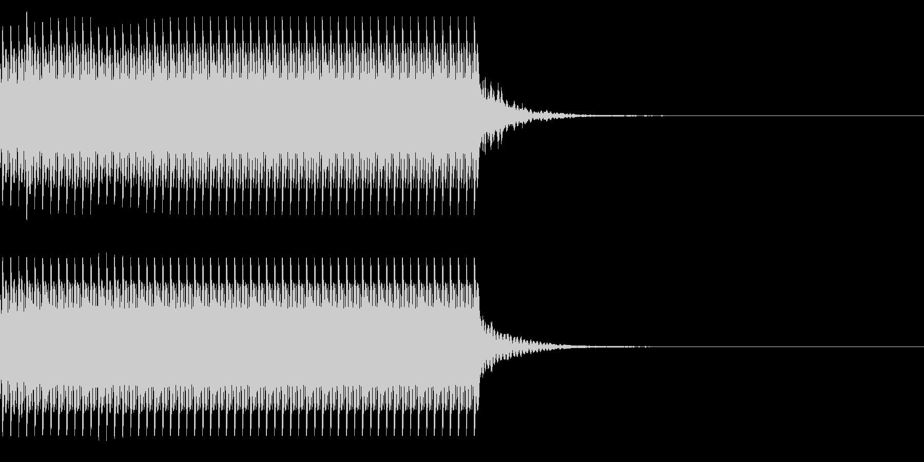 コイン60枚獲得 計算 チャリンの未再生の波形