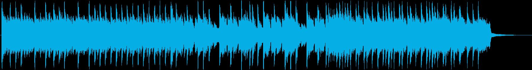 スローテンポから一転のアップテンポロックの再生済みの波形