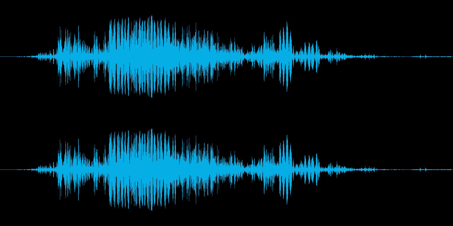 地面に落ちるハードボディの再生済みの波形