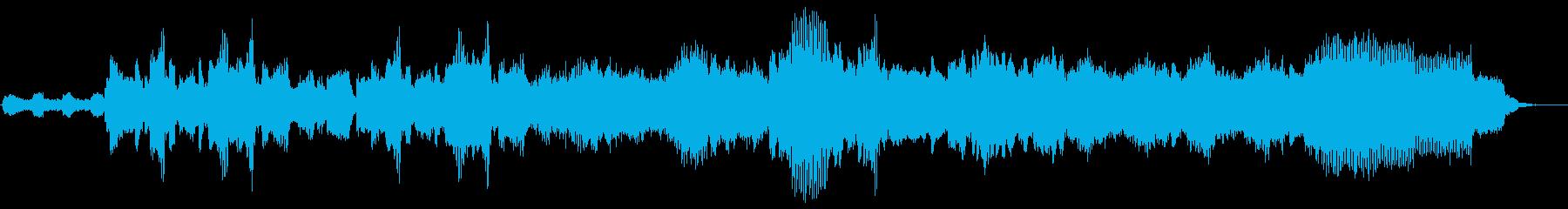 シンセサイザーとオーボエの不思議な曲の再生済みの波形