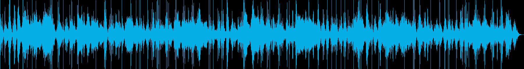 琴と尺八の合奏曲の再生済みの波形
