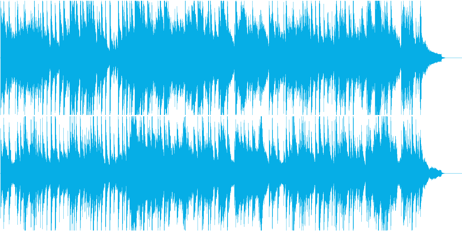 結婚式などに使える安らげるピアノ曲の再生済みの波形