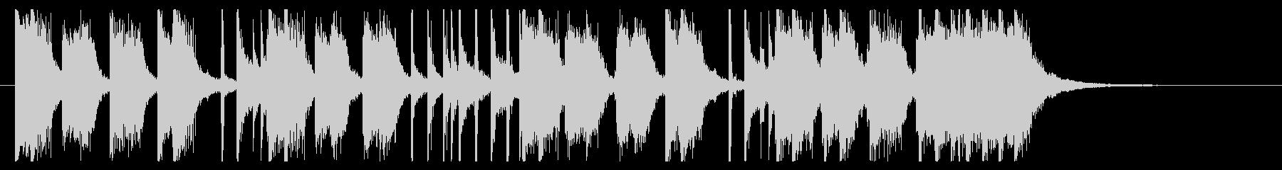 勢いのあるパンクロック調ジングルの未再生の波形