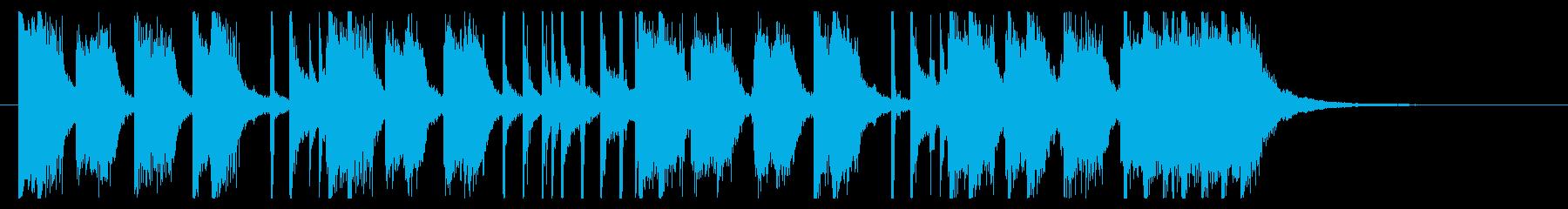 勢いのあるパンクロック調ジングルの再生済みの波形