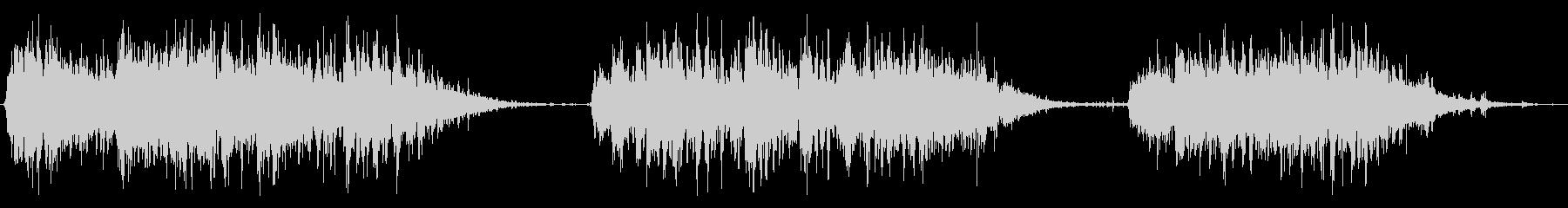 小型電動ブレンダー:3つの短いブレ...の未再生の波形