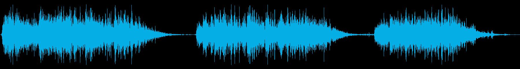 小型電動ブレンダー:3つの短いブレ...の再生済みの波形