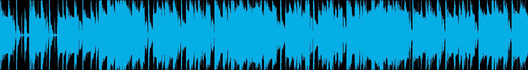 レゲエと盆踊りのコミカルBGMの再生済みの波形