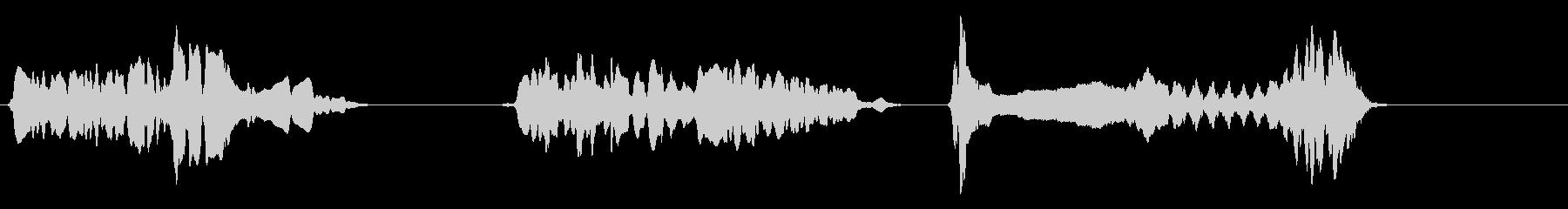 尺八 生演奏 古典風 残響音無 6の未再生の波形
