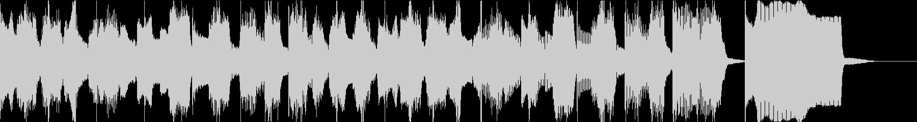 軽くてゆる〜いエンディングのジングル曲の未再生の波形