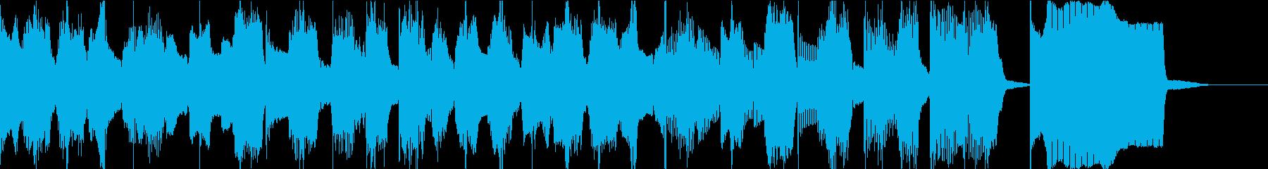 軽くてゆる〜いエンディングのジングル曲の再生済みの波形