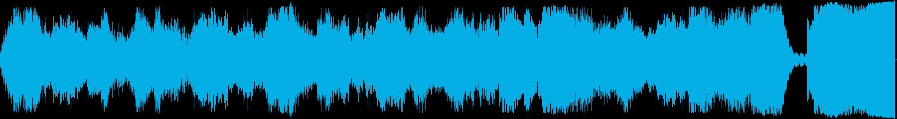 時計の音が入った怖いBGMの再生済みの波形