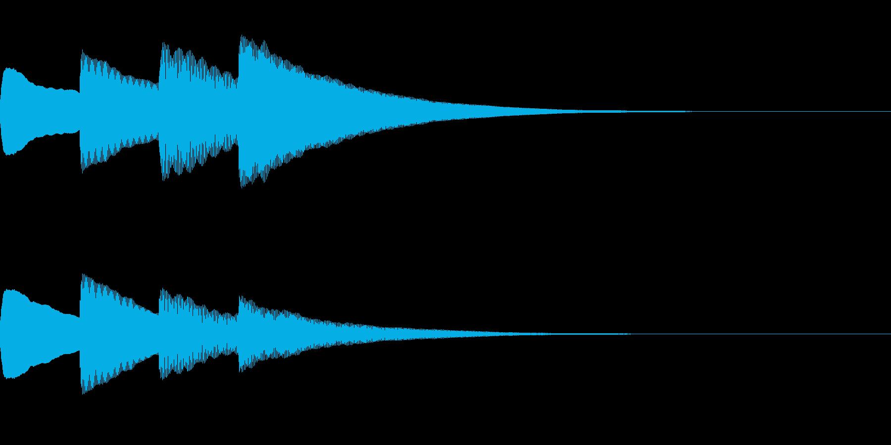お知らせ・アナウンス音B上昇(普通)03の再生済みの波形