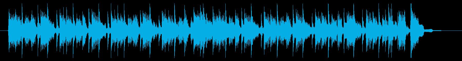 渋〜い! 70年代ロック風BGMの再生済みの波形