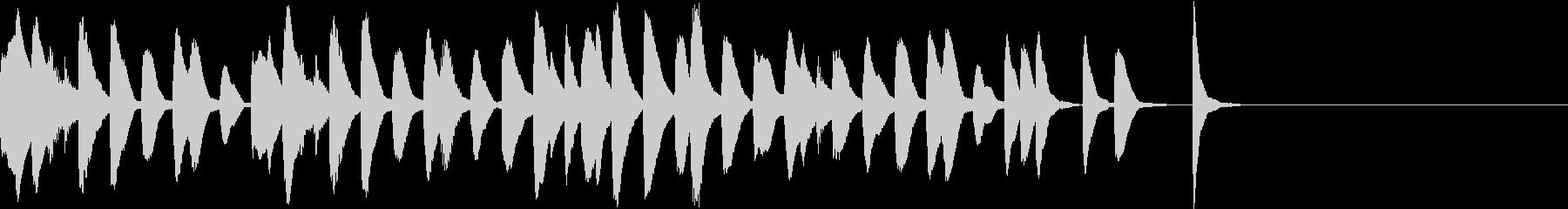 マリンバのコミカルでかわいいジングル2の未再生の波形