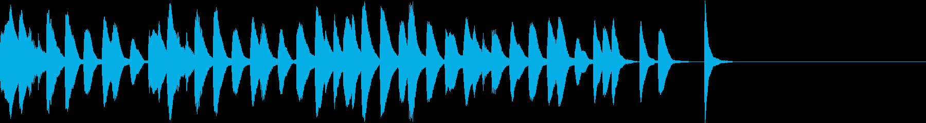 マリンバのコミカルでかわいいジングル2の再生済みの波形