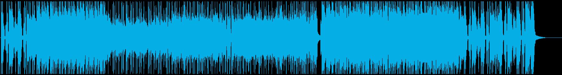 疾走感のある元気なパンクロックの再生済みの波形