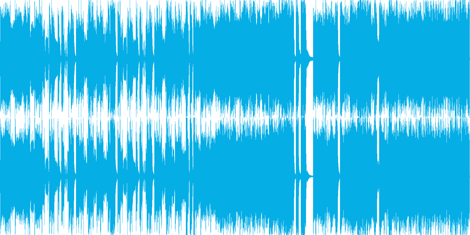 ループ音源ファンクオーケストラホーンの再生済みの波形