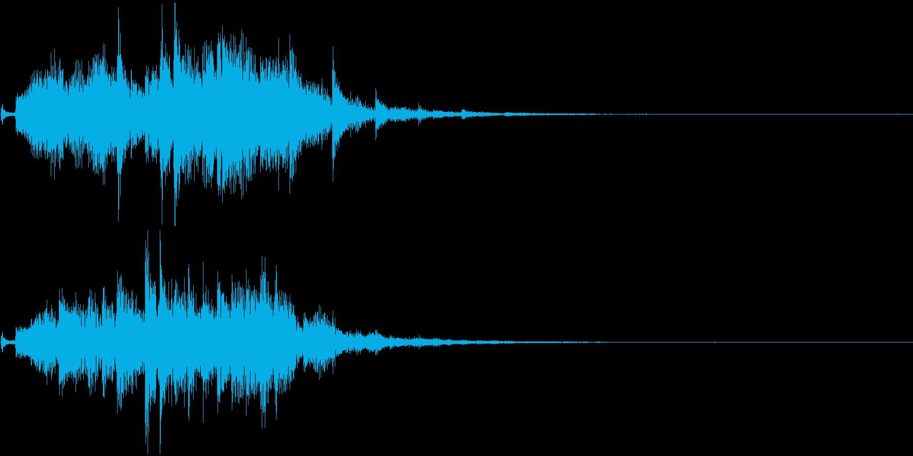 シンセアルペジオ、結果発表、場面転換の再生済みの波形