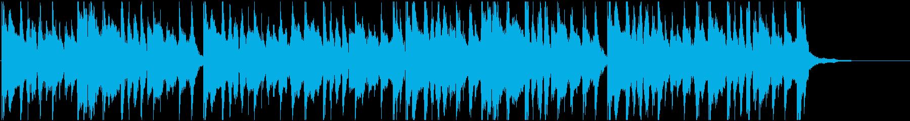 陽気でトロピカルな夏向きジングル15秒の再生済みの波形
