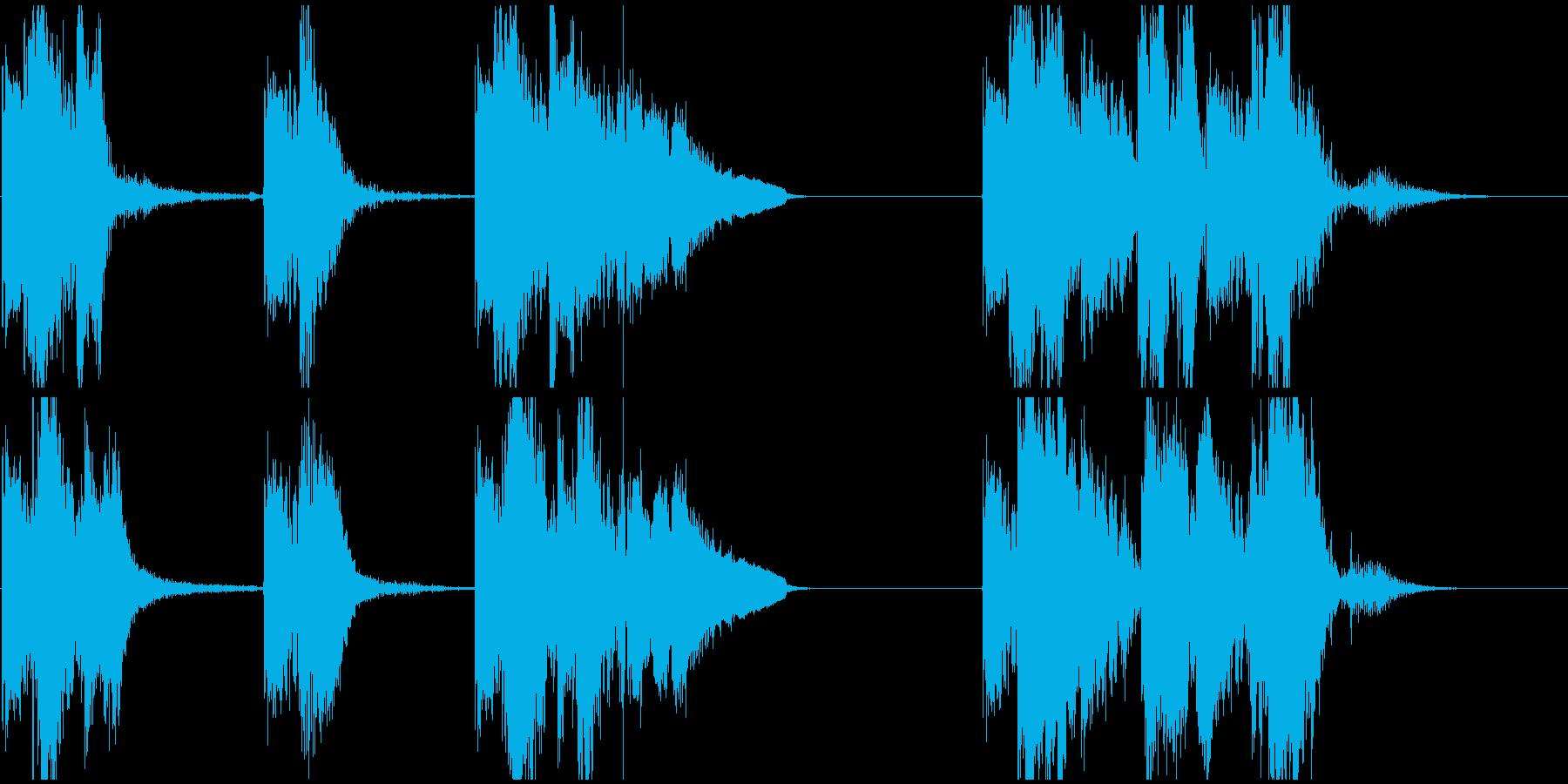 ピストルショットとクローズリコシェ...の再生済みの波形