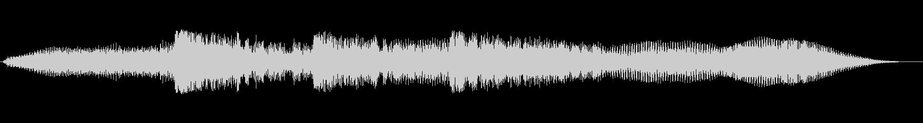 オーケストラヒットのリバウンドの未再生の波形